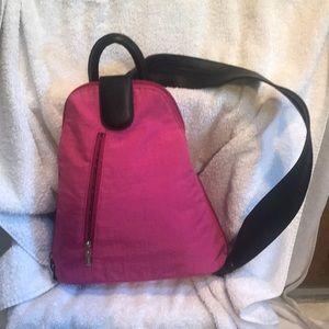 Baggallini Nylon Crinkle Metro Backpack Pink